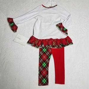 Bonnie Jean Matching Sets - Bonnie Jean Christmas Scottie Dog Girls Outfit 4T